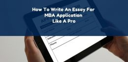 how to write an MBA admissions essay