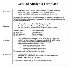 template for writing an analysis essay