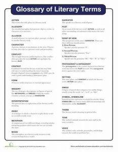 literary dictionary