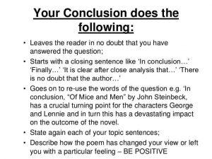 how to write a literary essay conclusion