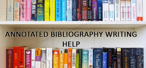 Help writing my annotated bibliography