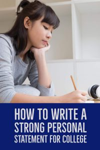 How to write a strong personal statement for college apllication'