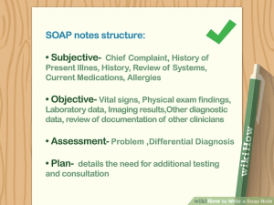 What are SOAP notes