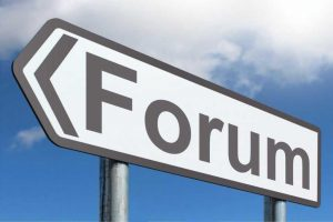 online discussion board/forum